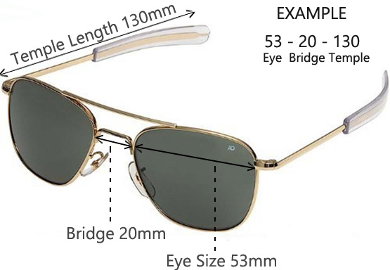 Find Your Size. To find the right size men's sunglasses for you, use a measuring tape or ruler and stand in front of a mirror. First measure the widest part of your face. Then measure the width of the bridge of your nose to get the middle number.